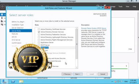 آموزش نصب AD و DNS سرور در ویندوز 2012