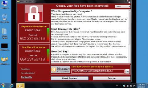 عملکرد ESET درمورد باج افزار WannaCryptor